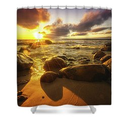 Drama On The Horizon Shower Curtain