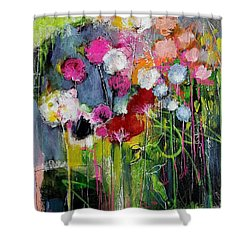 Dramatic Blooms Shower Curtain by Nicole Slater