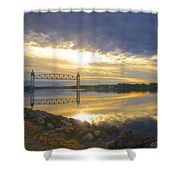 Dramatic Cape Cod Canal Sunrise Shower Curtain