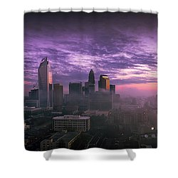 Dramatic Charlotte Sunrise Shower Curtain