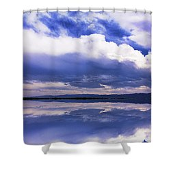 Dramatic Clouds Of A Coming Storm Shower Curtain by Daphne Sampson