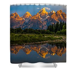 Shower Curtain featuring the photograph Dramatic Grand Teton Sunrise by Serge Skiba