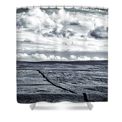 Dramatic Landscape  Shower Curtain by RKAB Works