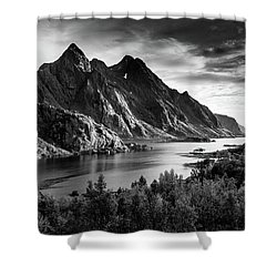 Dramatic Lofoten Shower Curtain