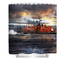 Dramatic Once More Unto The Breach  Shower Curtain
