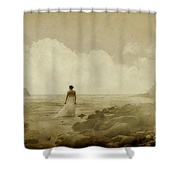 Dramatic Seascape And Woman Shower Curtain