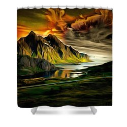 Dramatic Skies Shower Curtain by Mario Carini