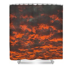Dramatic Sunset Shower Curtain by Hans Engbers