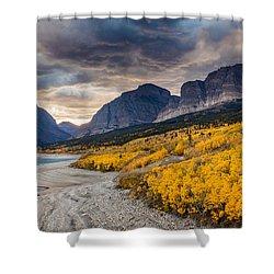 Dramatic Sunset Sky In Autumn  Shower Curtain