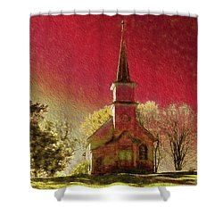 Dramatic Surrounds Shower Curtain by Susan Crossman Buscho
