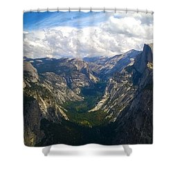 Shower Curtain featuring the photograph Dramatic Yosemite Half Dome by Debra Thompson