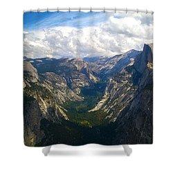 Dramatic Yosemite Half Dome Shower Curtain by Debra Thompson