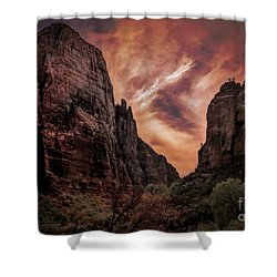 Dramatic Zion National Park Utah  Shower Curtain