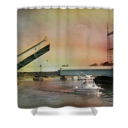 Draw Bridge Shower Curtain