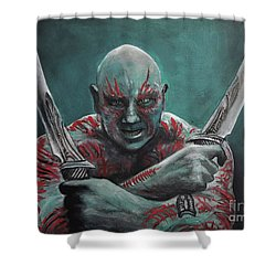 Drax The Destroyer Shower Curtain by Tom Carlton