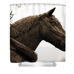 Dray Or Heavy Horse Remembered Shower Curtain