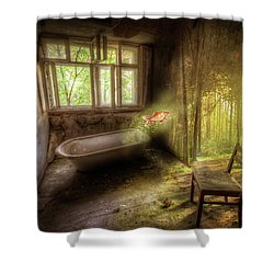 Shower Curtain featuring the digital art Dream Bathtime by Nathan Wright