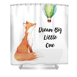 Shower Curtain featuring the digital art Dream Big Little One by Colleen Taylor
