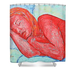Shower Curtain featuring the painting Dream Big   by Xueling Zou