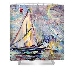 Dream Boat Shower Curtain