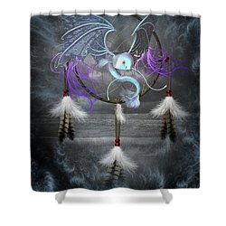 Dream Catcher Dragon Fish Shower Curtain
