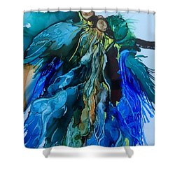 Shower Curtain featuring the painting Dream Catcher by Pat Purdy