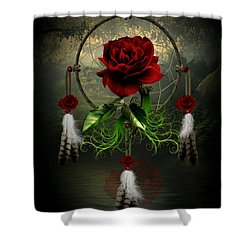 Dream Catcher Rose Shower Curtain