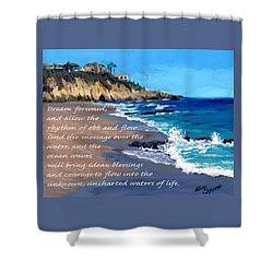 Dream Forward Shower Curtain by Alice Leggett
