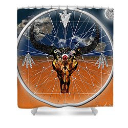 Dream Guardian Shower Curtain by Iowan Stone-Flowers