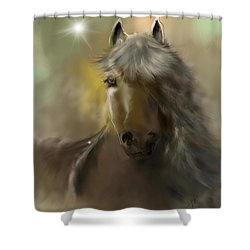 Shower Curtain featuring the digital art Dream Horse by Darren Cannell