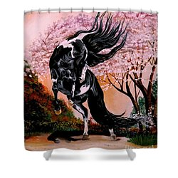 Dream Horse Series #2050 Mustang Valley Shower Curtain
