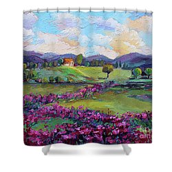 Dream In Color Shower Curtain by Jennifer Beaudet