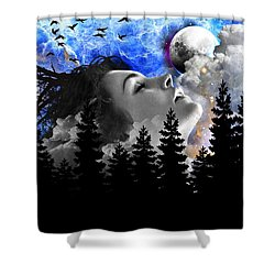 Dream Is The Space To Fly Farther Shower Curtain