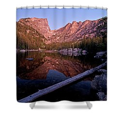 Shower Curtain featuring the photograph Dream Lake by Gary Lengyel