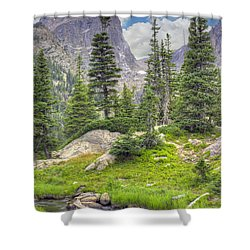 Dream Lake Shower Curtain by Juli Scalzi