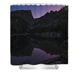 Shower Curtain featuring the photograph Dream Lake Reflections by Gary Lengyel