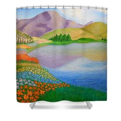 Dream Land Shower Curtain by Sheri Keith