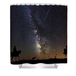 Dream Ride At Magic Time Shower Curtain