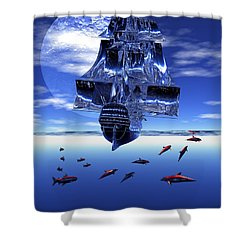 Dream Sea Voyager Shower Curtain