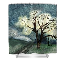 Dream Tree Shower Curtain by Annette Berglund
