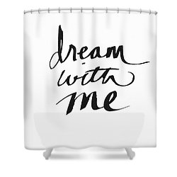 Dream With Me- Art By Linda Woods Shower Curtain