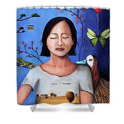 Dream Within A Dream 3 Shower Curtain by Leah Saulnier The Painting Maniac