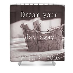 Dream Your Day Away With A Book In A Victorian Bed Shower Curtain