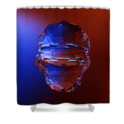 Shower Curtain featuring the digital art Dreamcatcher Fractal Rtdg Triangle by Digital Feng Shui