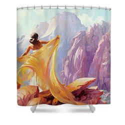 Shower Curtain featuring the painting Dreamcatcher by Steve Henderson