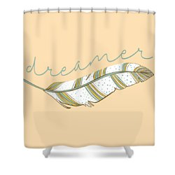 Shower Curtain featuring the digital art Dreamer by Heather Applegate