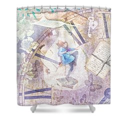 Dreamer Shower Curtain by Mo T