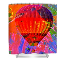 Shower Curtain featuring the photograph Dreaming Across The Sky by Jeff Swan