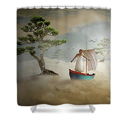 Shower Curtain featuring the digital art Dreaming High by Nathan Wright