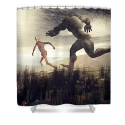 Dreaming Of A Nameless Fear Shower Curtain